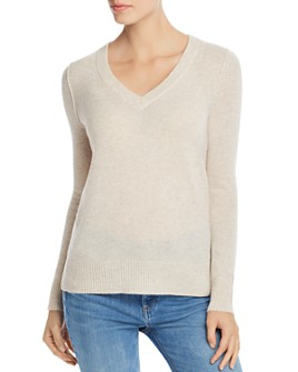 AQUA - V-Neck Cashmere Sweater - 100% Exclusive