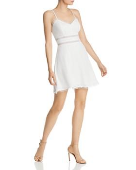 0d98bf7362a5 AQUA - Lace-Trim A-Line Dress - 100% Exclusive ...