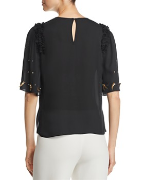 Kobi Halperin - Krissy Embellished Silk Blouse