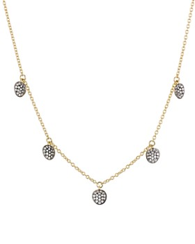 """Nadri - Sirena Disc Pendant Station Necklace in 18K Gold-Plated & Ruthenium-Plated Sterling Silver, 16"""""""