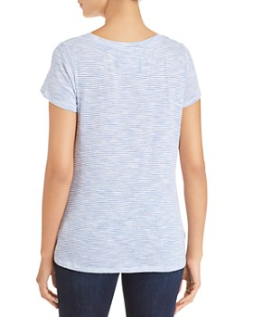 Cupio - Striped Twist-Front Tee