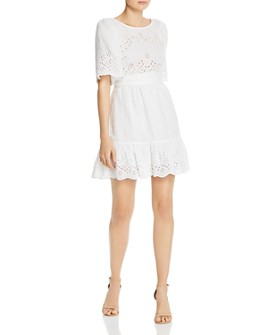 Rebecca Taylor - Sarcelle Crossover Back Eyelet Dress