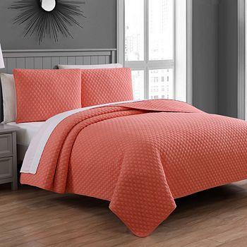 American Home Fashion - Estate Fenwick 3-Piece Quilt Set, Full/Queen