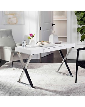 SAFAVIEH - Couture Paley 47'' One Drawer Lacquer & Chrome Desk