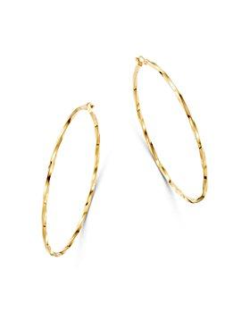 Moon & Meadow - Twist Hoop Earrings in 14K Yellow Gold - 100% Exclusive