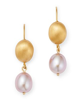 Bloomingdale's - Cultured Freshwater Pink Pearl Bead Drop Earrings in 14K Yellow Gold - 100% Exclusive