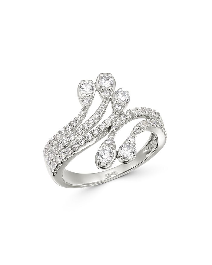 Bloomingdale's - Diamond Bypass Ring in 14K White Gold, 1.0 ct. t.w. - 100% Exclusive