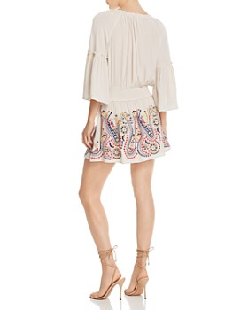 Ramy Brook - Graham Embroidered Drop-Waist Dress
