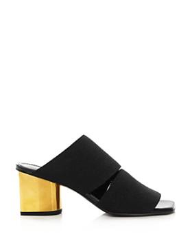 Proenza Schouler - Women's Metallic Block Heel Mules