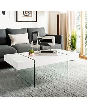 SAFAVIEH - Jacob Rectangular Glass Leg Modern Coffee Table