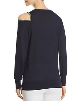 Fabiana Filippi - Single Cold-Shoulder Cashmere & Silk Sweater