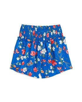 bebe - Girls' Smocked Floral Shorts - Big Kid