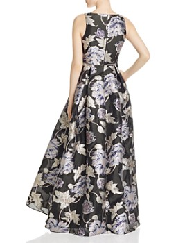 Aidan Mattox - Metallic Floral Ball Gown