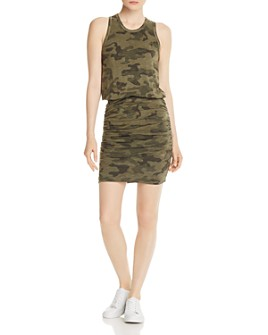 Sundry - Ruched Camo Dress