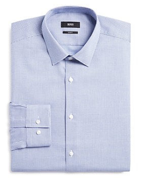 BOSS - Textured Slim Fit Dress Shirt