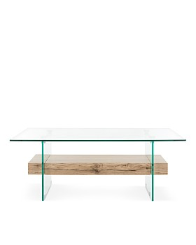 SAFAVIEH - Couture Kayley Rectangular Modern Glass Coffee Table