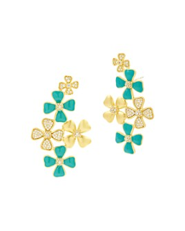 Freida Rothman - Harmony Flower Cluster Earrings in 14K Gold-Plated Sterling Silver