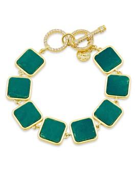 Freida Rothman - Harmony Stone Link Bracelet in 14K Gold-Plated Sterling Silver