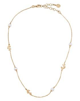 """Majorica - Leaf Necklace, 15"""""""