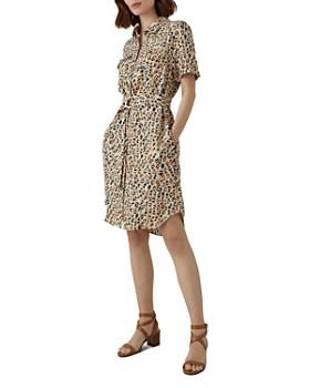 KAREN MILLEN - Leopard Print Shirt Dress