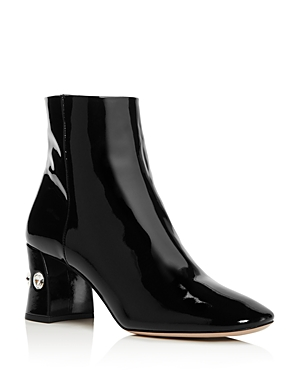 Miu Miu Women's Rocchetto Patent Leather Booties