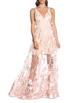 Dress the Population - Sidney Embellished Lace Gown