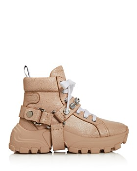 Miu Miu - Women's Monstar Crystal-Embellished Hiking Boots