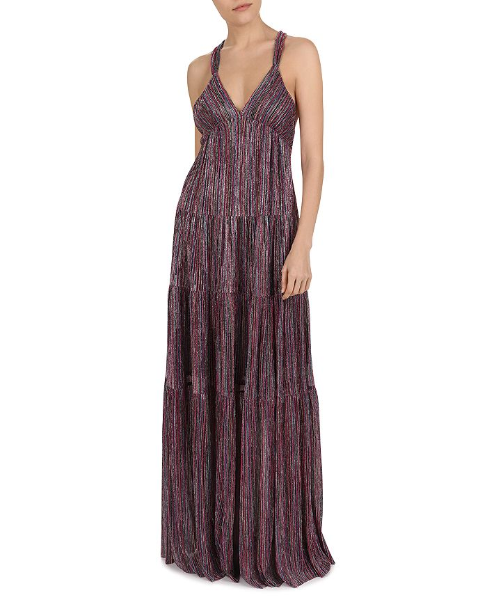 ba&sh - Salsa Tiered Metallic Maxi Dress
