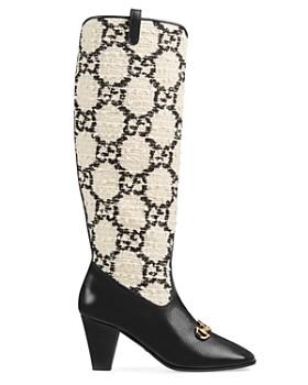 f27f561bc75 ... Gucci - Women s Zumi GG Tweed Knee Boots