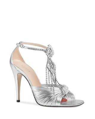 Crawford Metallic Leather Sandals