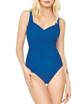 Gottex - Lattice Square Neck One Piece Swimsuit