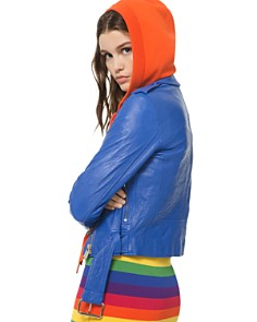 MICHAEL Michael Kors - Textured Moto Jacket