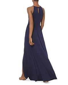 MICHAEL Michael Kors - Shirred Jersey Keyhole Maxi Dress