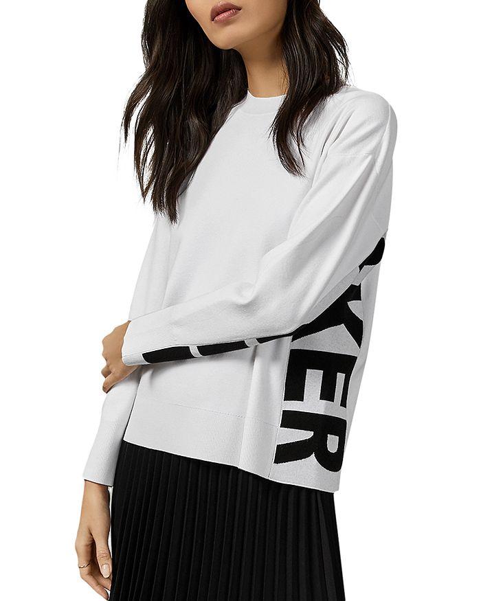 Ted Baker Keyzay Logo Sweater In White