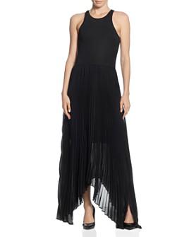 T Tahari - Combo Pleated Maxi Dress