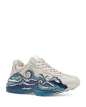 Gucci - Women's Rhyton Leather Sneakers
