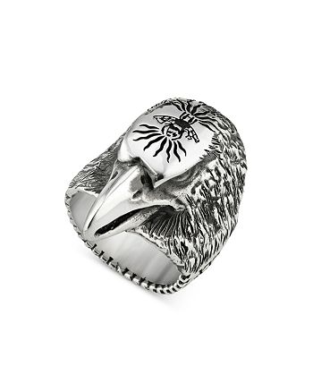Gucci - Sterling Silver Anger Forest Eagle Head Ring