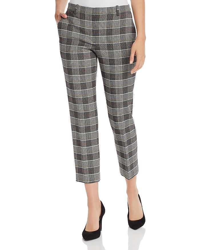 Theory - Glen Plaid Cropped Straight-Leg Trousers - 100% Exclusive
