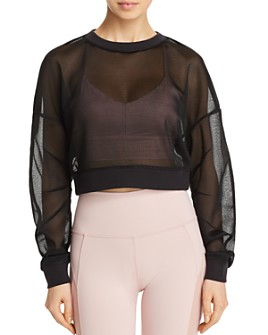 Alo Yoga - Row Mesh Cropped Top