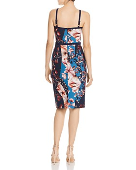 Black Halo - Daria Floral Scuba Dress