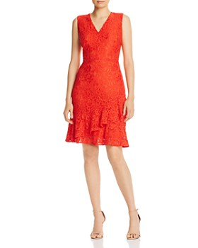 Sam Edelman - Lace Ruffled-Hem Dress