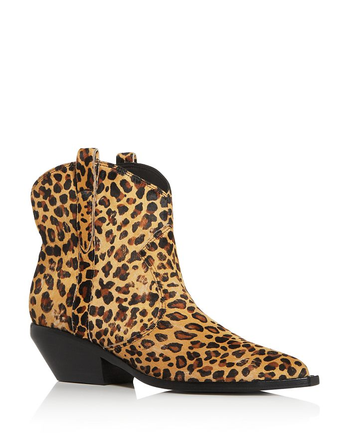 Sigerson Morrison - Women's Tacly Leopard Print Calf Hair Booties