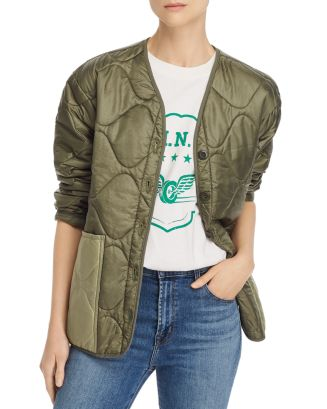Andy Quilted Bomber Jacket by Anine Bing