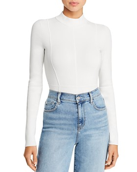 Helmut Lang - Mock-Neck Cutout Bodysuit