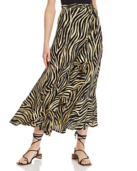 Faithfull the Brand - Jasper Zebra-Print Midi Skirt