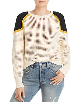 Rebecca Minkoff - Alexis Openwork Cotton Sweater