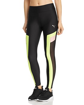 PUMA - Chase Color-Block Mesh-Inset Leggings