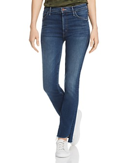 MOTHER - The Insider Crop Step Fray Flared Jeans in Sweet And Sassy