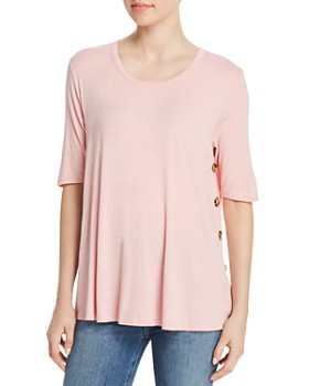 Kim & Cami - Side-Button Tee