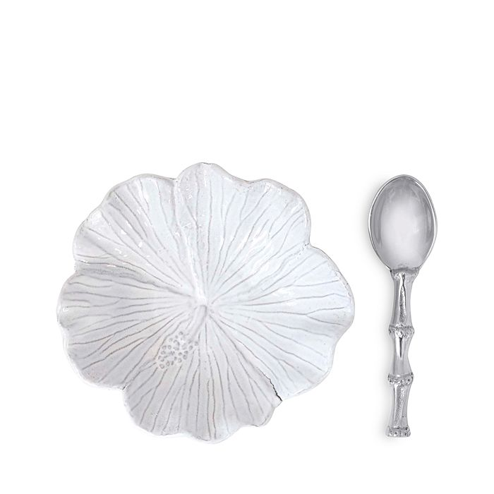 Mariposa - Hibiscus Ceramic Bowl & Bamboo Spoon